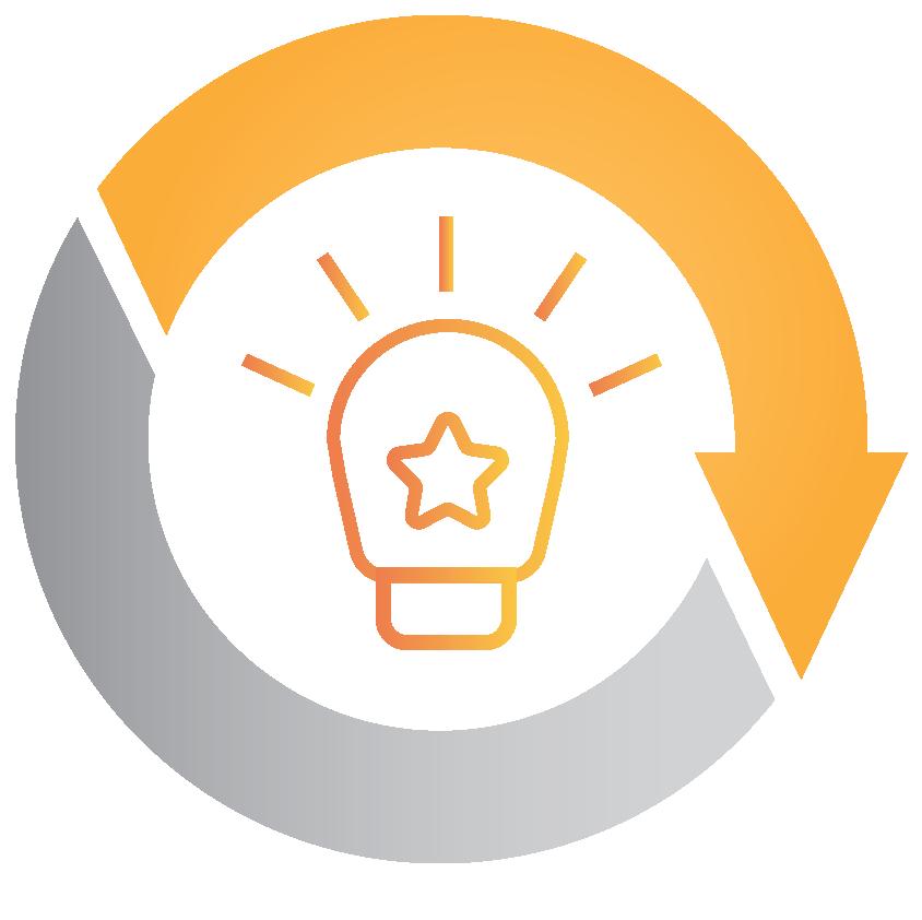 Lightbulb – Skills development icon